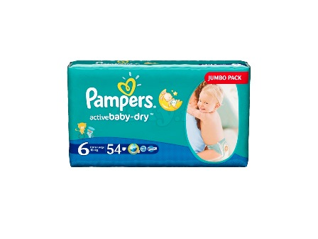 Подгузники Pampers Active Baby Extra Large 15+ кг (54 шт)