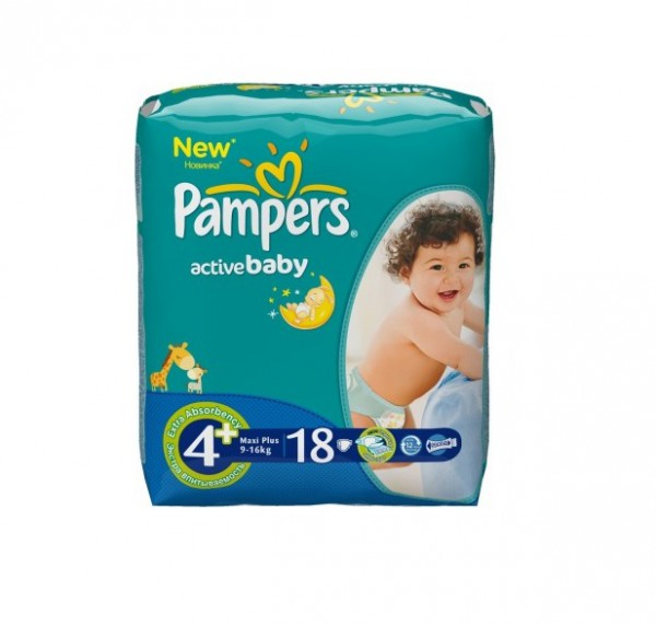 Подгузники Pampers Active Baby Maxi 9-16 кг (18 шт)
