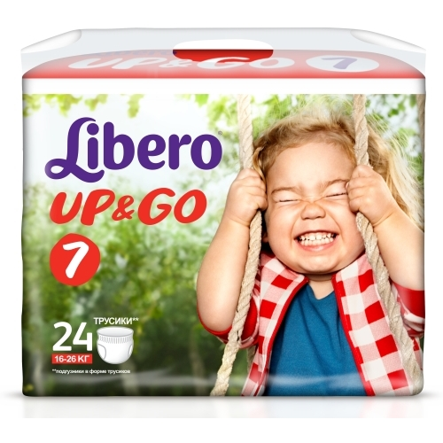Подгузники Libero Up-Go 7 XL Plus 16-26 кг (24 шт)